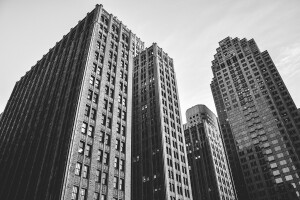 skyscrapers-bw